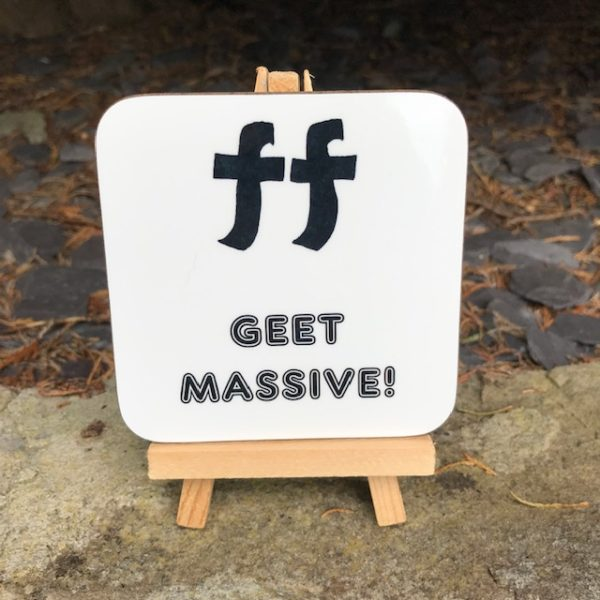 Geordie Music Dictionary Coaster - Fortissimo: Geet massive